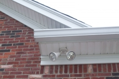 K style gutters and vinyl soffit with aluminum trim
